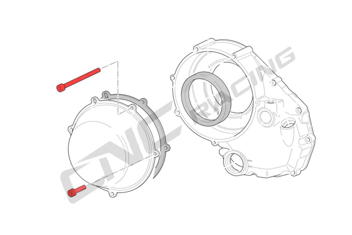 Screw Kit Cover Dry Clutch Ducati Titanium Cnc Racing 2000 St2 Wiring Diagram