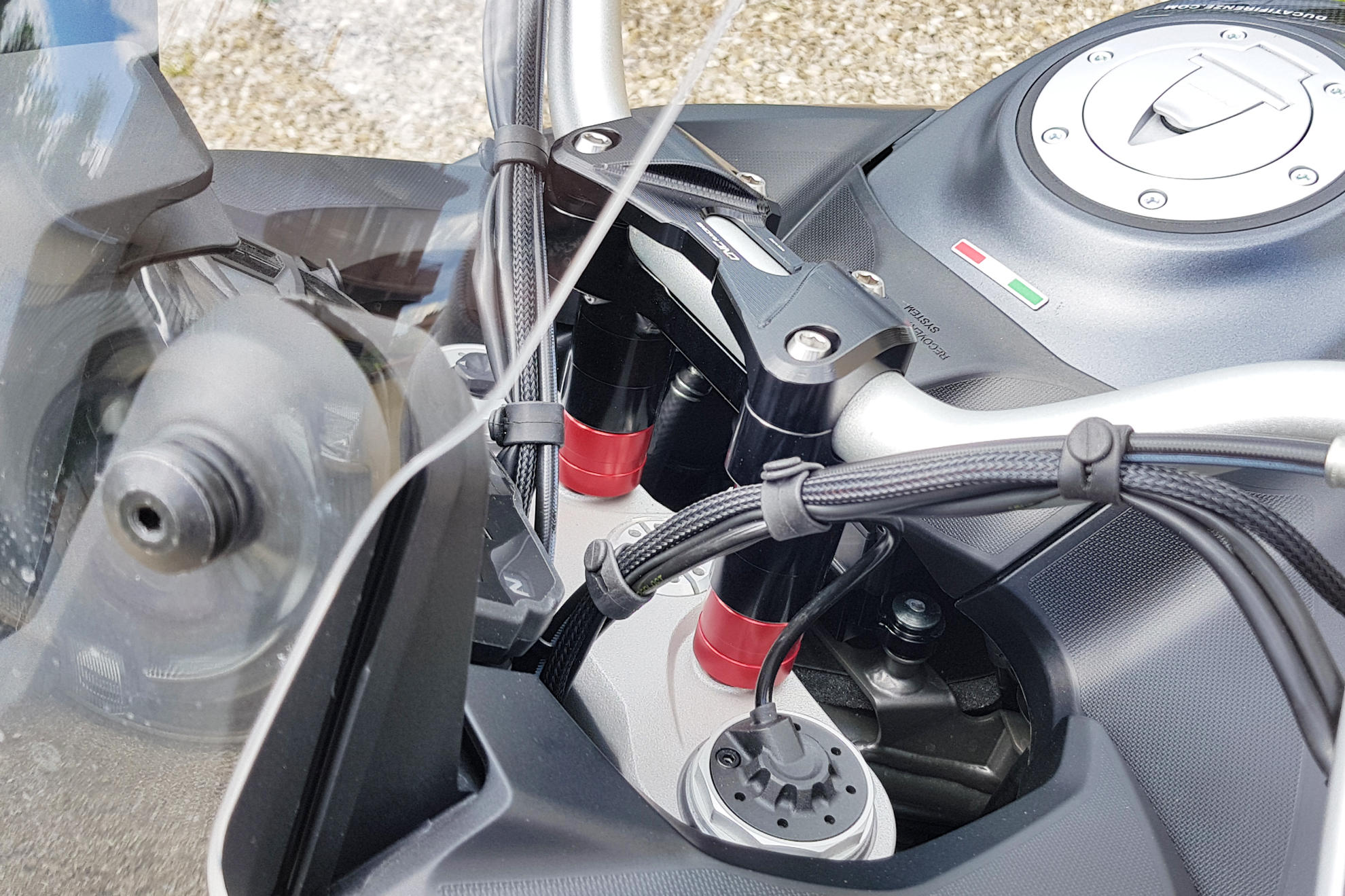 Bar Adaptor Spacers H 30mm Ducati Multistrada 950 1200 1260 Cnc Racing Wiring Diagram Bmw S1000rr