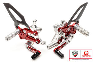 Adjustable rear sets RPS Ducati SBK Panigale series Team Pramac MotoGP Limited Edition CNC Racing