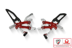 Adjustable rearsets Ducati Streetfighter V4 Carbon - Pramac Racing Limited Edition CNC Racing