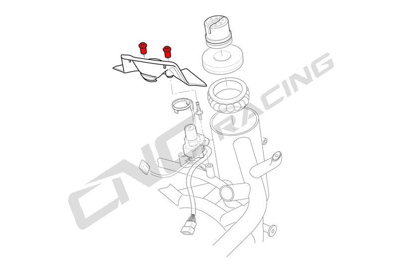 Screws kit key guard Ducati