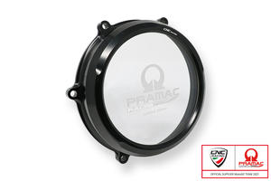 Clear oil bath clutch cover Ducati Panigale V4 - Pramac Racing Limited Edition <p>Nero</p>