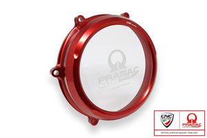 Clear oil bath clutch cover Ducati Panigale V4 - Pramac Racing Limited Edition <p>Rosso</p>