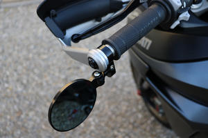 Adapter for Rocket bar-end mirror on Ducati Multistrada Silver