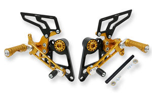 Adjustable rear sets Ducati Monster 696 796 1100 Gold