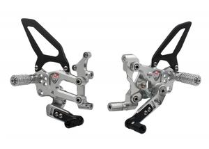 Adjustable rear sets RPS Ducati SBK Panigale series Argento